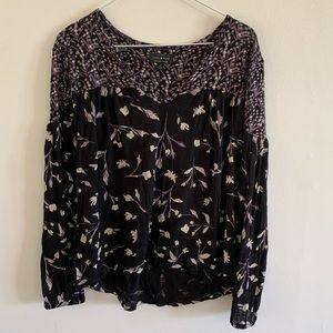 Lucky brand black and purple top size small